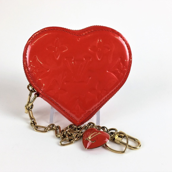119da87701af Louis Vuitton Handbags - Louis Vuitton Vernis heart Coin Purse